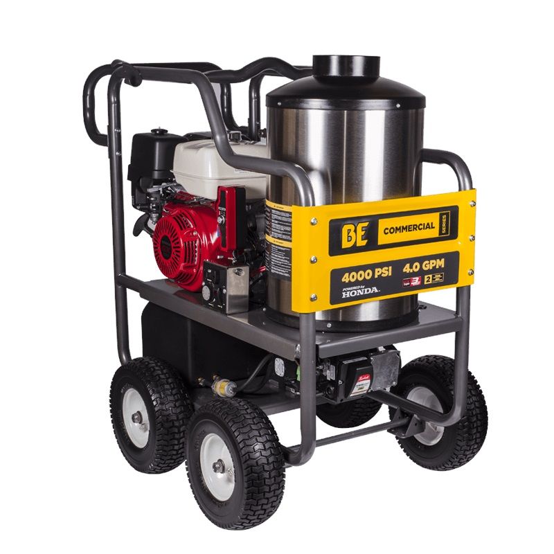 13hp BE Honda | HOT & COLD Water High Pressure Washer | Cleaner Elec Start Engine | Comet 4000psi Pump