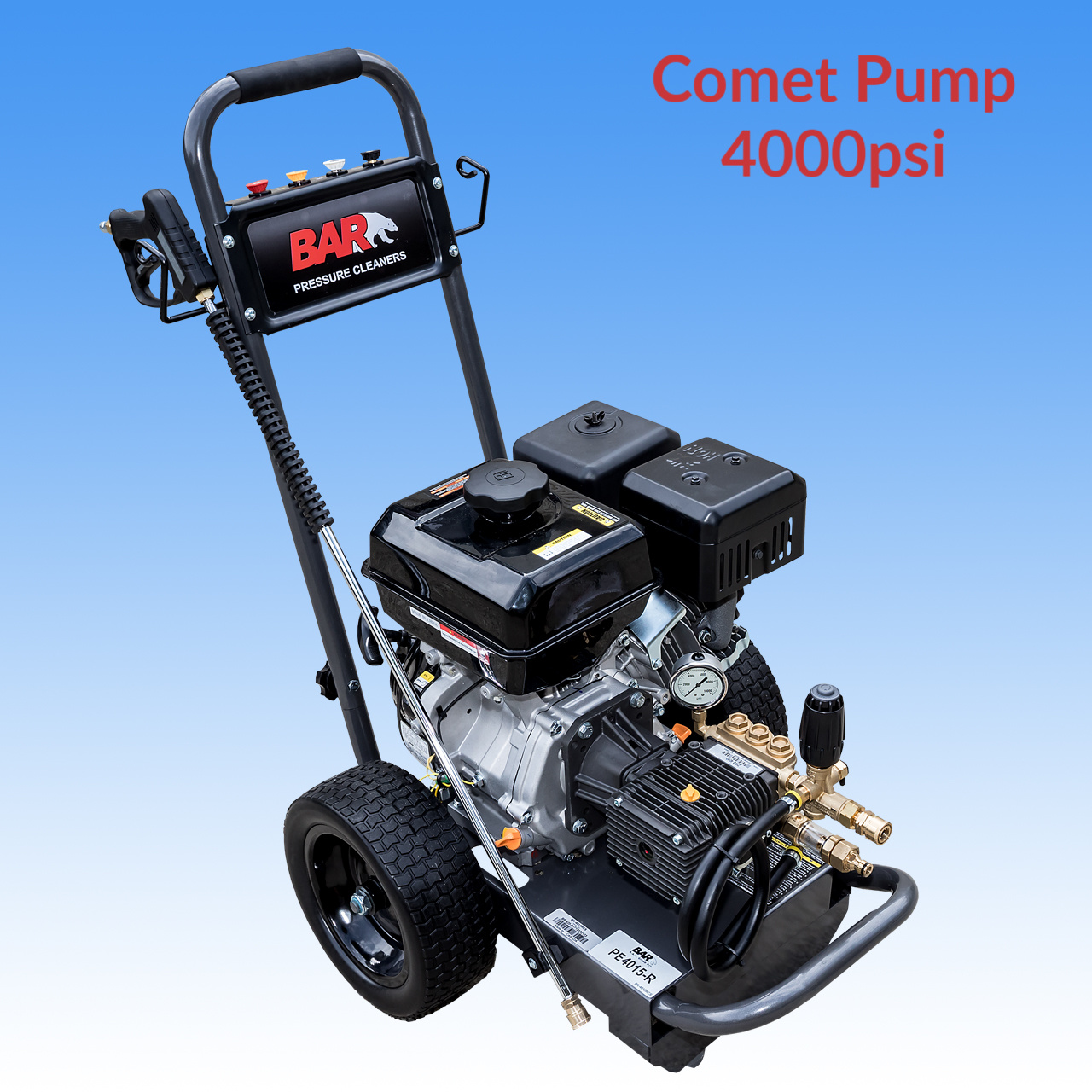 Mid Range Start Up Package With 15hp BE Power Ease Petrol Engine High Pressure Washer With COMET Pump