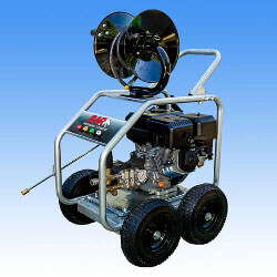 15hp Petrol Engine | Recoil Start | 4 Wheel Unit | AR 4060psi Pump PLUS Full Bypass Pressure Adjustable Unloader
