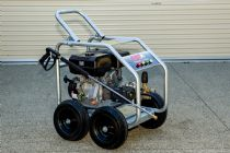 15hp Petrol Engine | Recoil Start | 4 Wheel Unit | AR 4060psi Pump PLUS Full Bypass Pressure Adjustable Unloader | Image 5