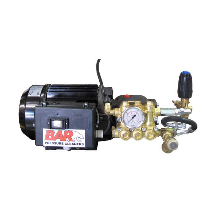 2.2 Kw | 3hp BAR Electric Motor Premium Comet Pump Combo | 1600psi | 12 L|Min Pump