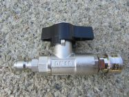 Ball Valve | Shut Off Valve For Pressure Washer Cleaner 3000psi | 3|8 M|F Quick Connect | Image 4