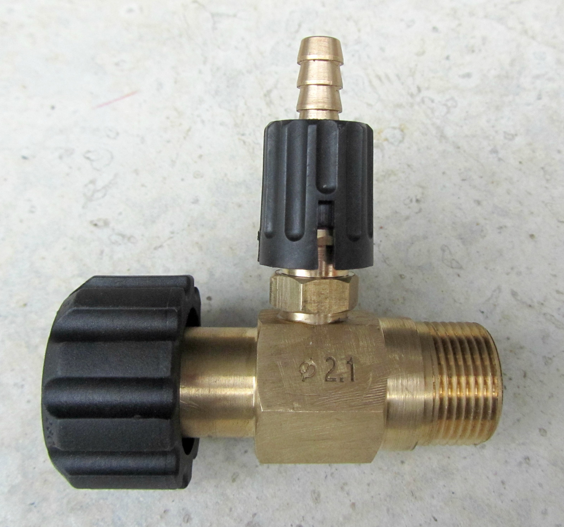 Adjustable Detergent Injector 22mm M|F