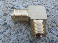 1|2 Inch Male BSP Elbow to 3|4 Inch Hose Barb Water Inlet Fitting