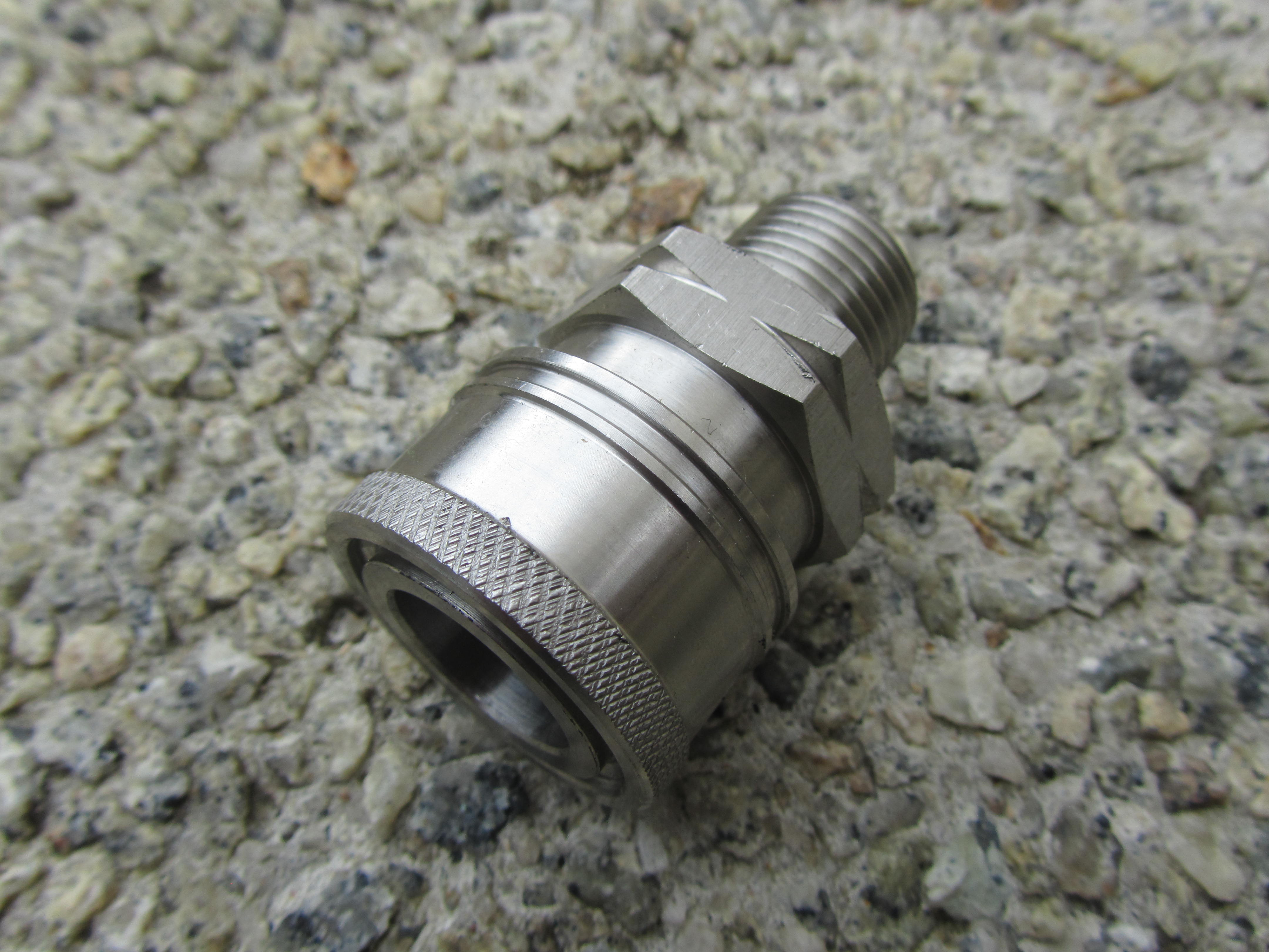 3|8 BSP M - 3|8 F Stainless Steel QC Coupler 5000psi
