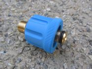 M24 F to 3|8 BSP M High Pressure Hose Fitting  | 5650psi Max | 30 L|Min | Blue | Image 2