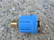 M24 F to 3|8 BSP M High Pressure Hose Fitting  | 5650psi Max | 30 L|Min | Blue | Image 3