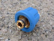 M24 F to 3|8 BSP M High Pressure Hose Fitting  | 5650psi Max | 30 L|Min | Blue | Main Image