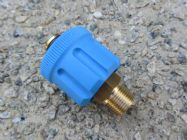M24 F to 3|8 BSP M High Pressure Hose Fitting  | 5650psi Max | 30 L|Min | Blue | Image 4