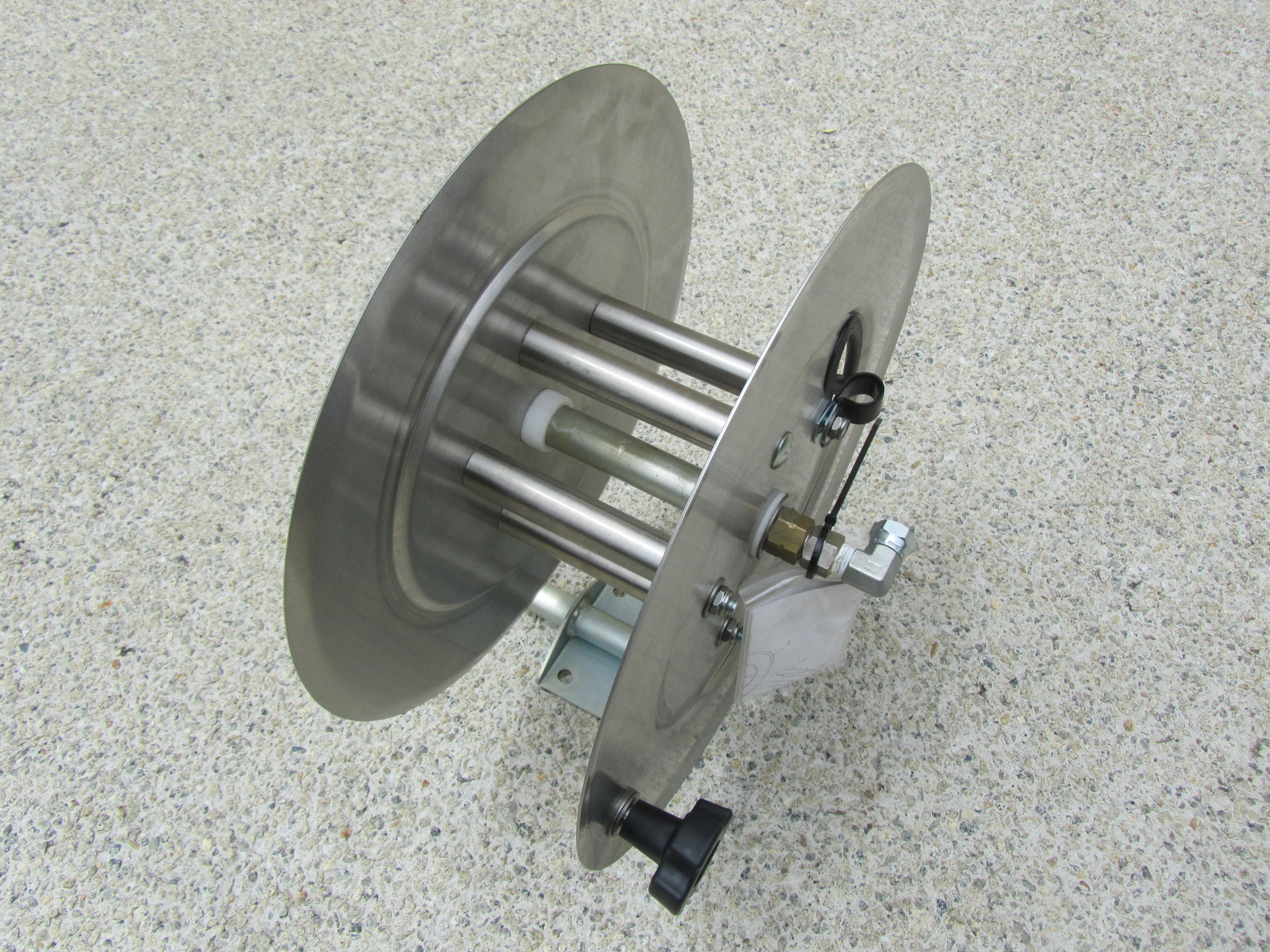 31 Metre Stainless Steel Hand Crank Pressure Hose Reel (Made In USA)