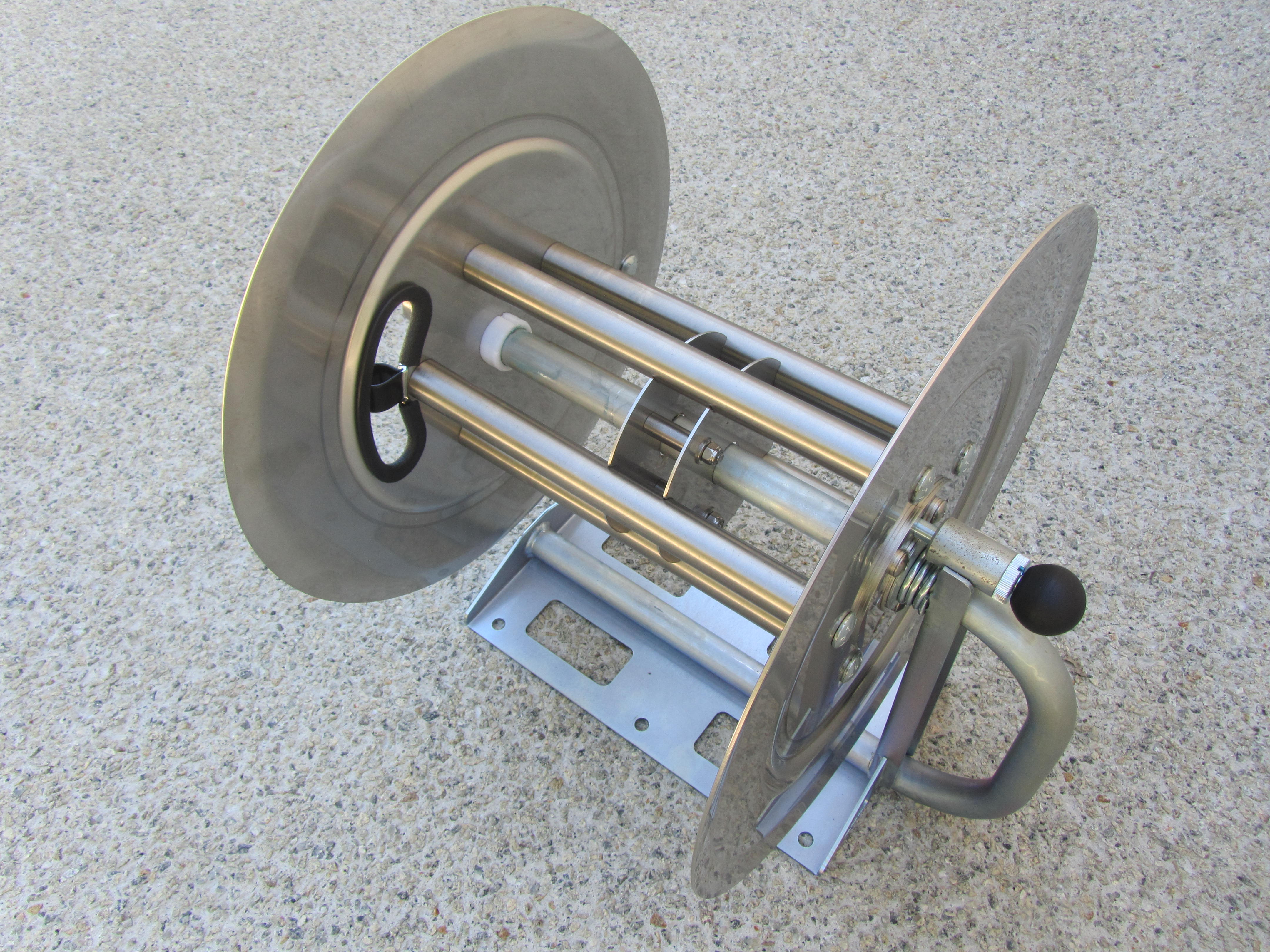 70 Metre Stainless Steel Hand Crank Pressure Washer Hose Reel (Made in USA)