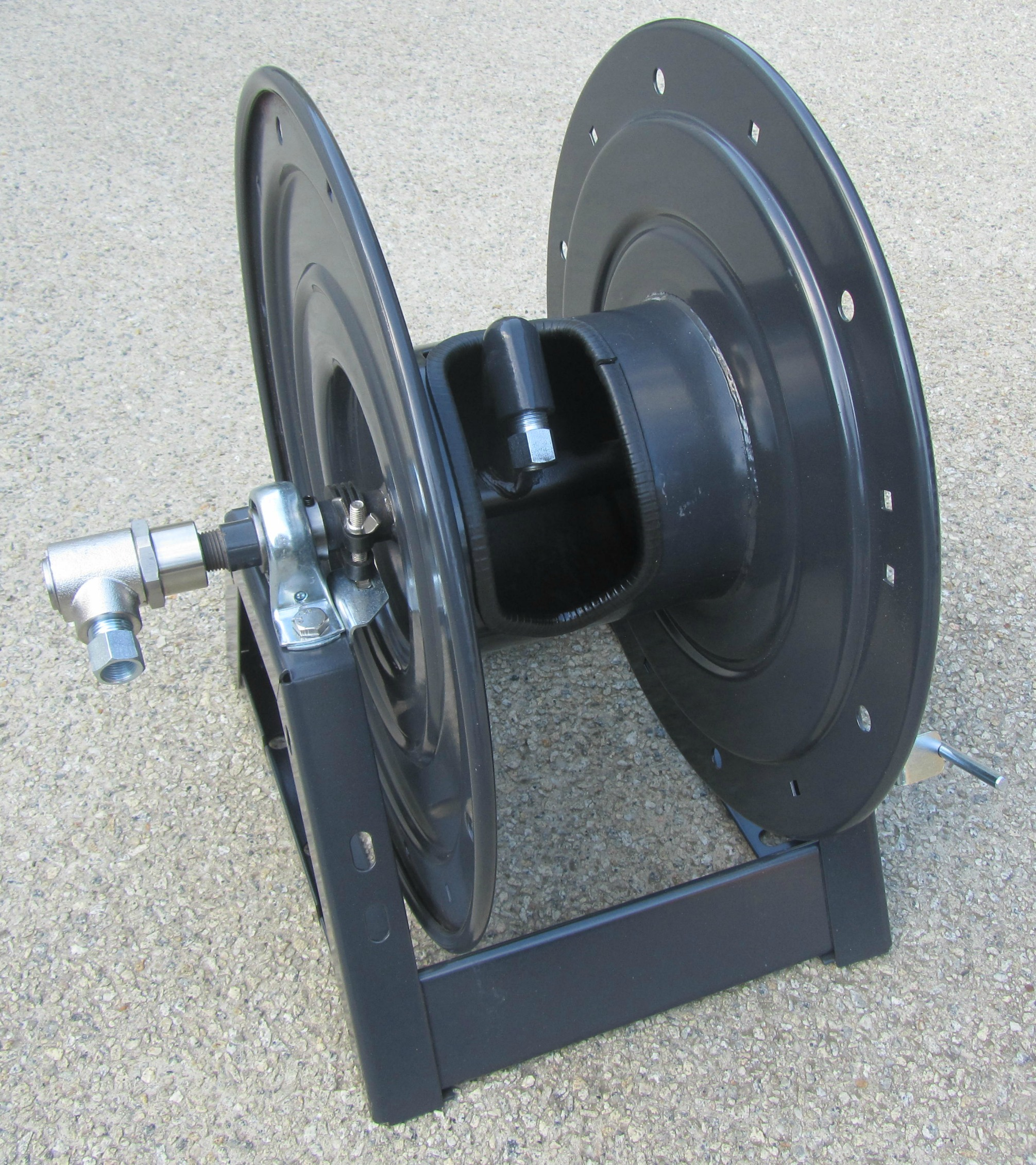 50 Metre Hand Crank Pressure Washer Hose Reel with A FRAME MOUNTING (Made In USA)