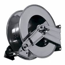 20 Metre Industrial Grade Retractable High Pressure Hose Reel -  STAINLESS STEEL