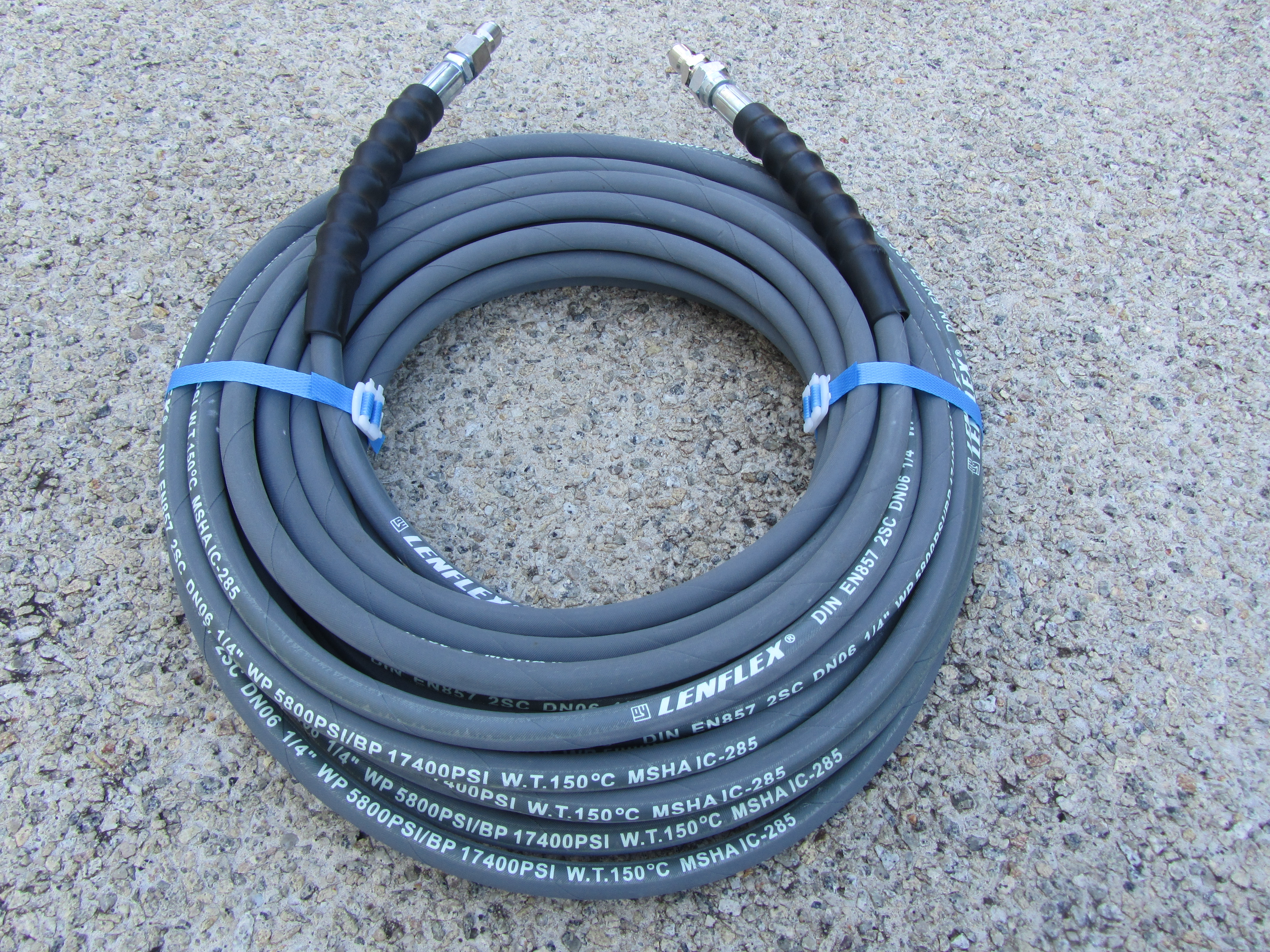 20 Metre 1|4 Inch 5800psi Grey 2 Wire Low Marking M & M |  QC Fittings | SUIT KARCHER