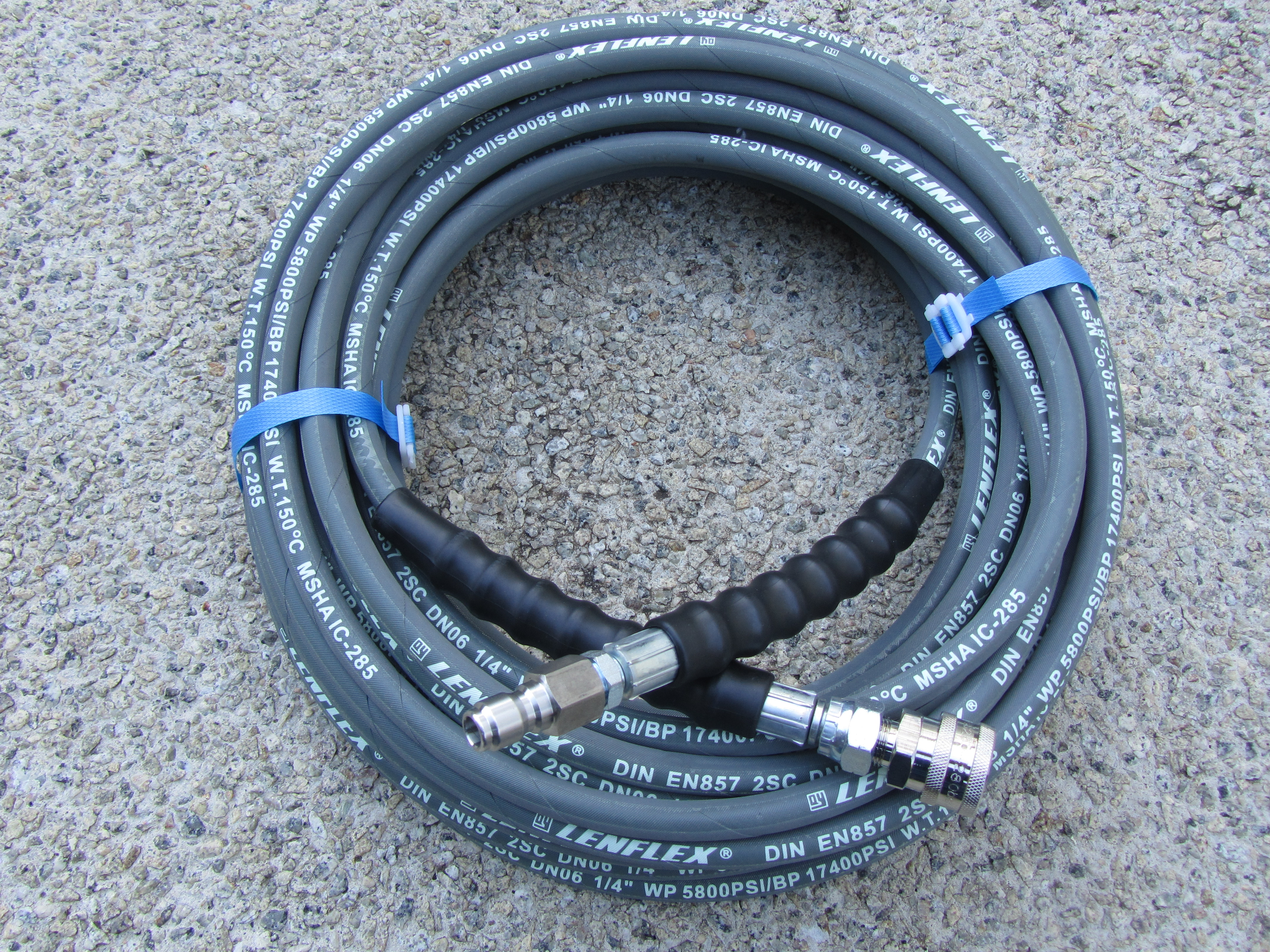 20 Metre 1|4 Inch 5800psi Grey 2 Wire Low Marking QC