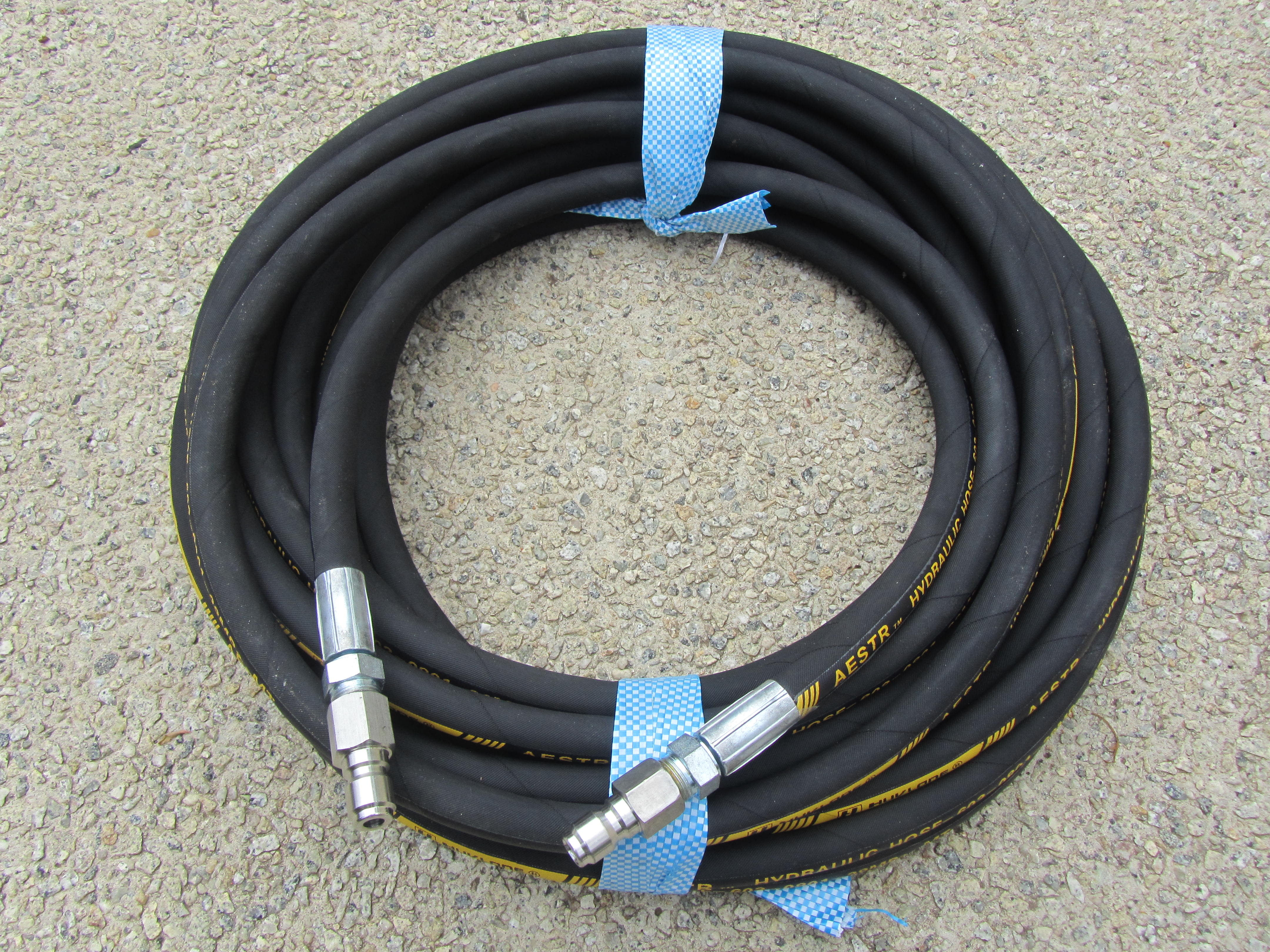 20 Metre Aestr Single Steel Braided High Pressure Hose with Quick Connection Fittings TO SUIT KARCHER