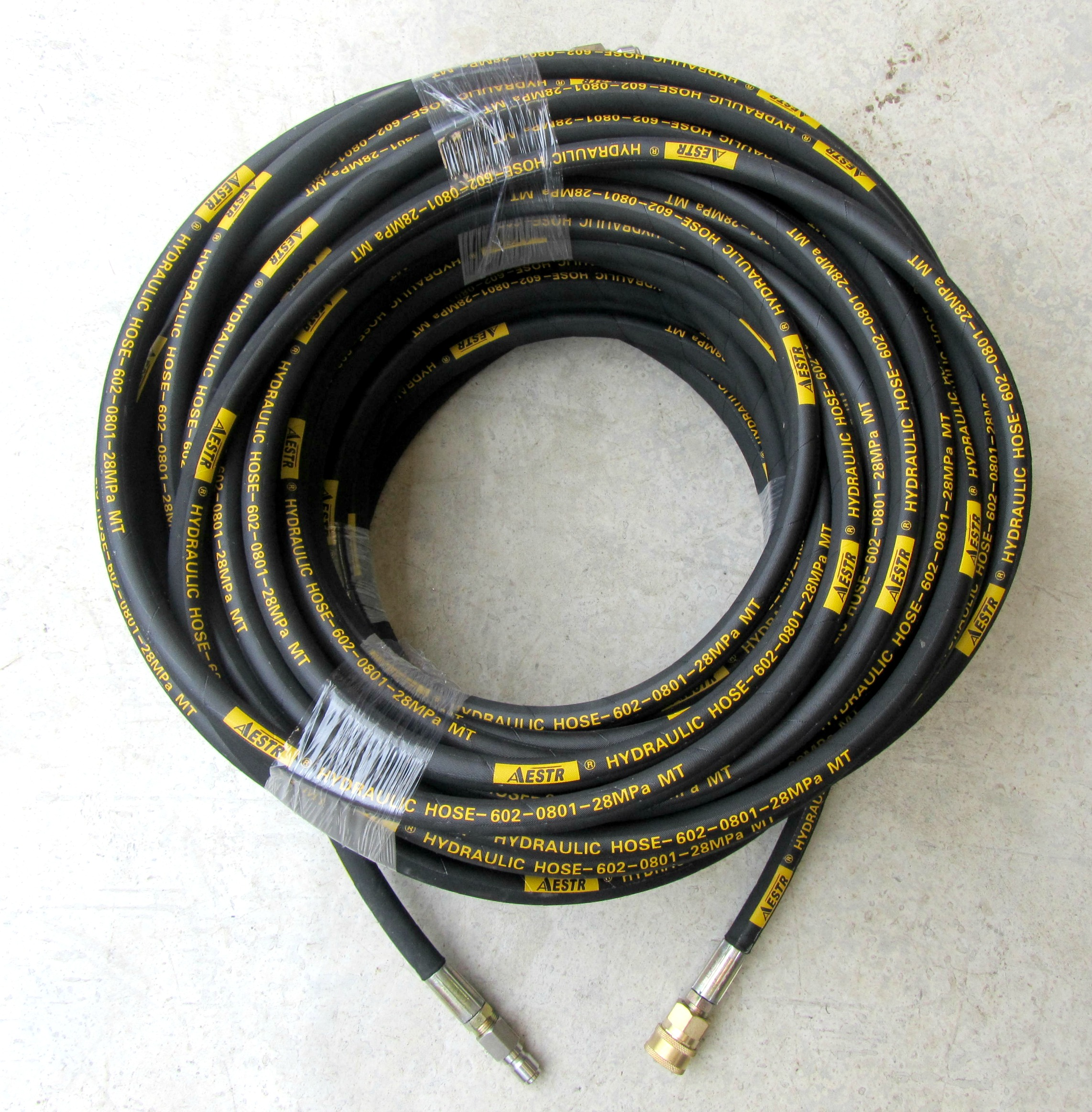 50 Metre Aestr Single Steel Braided High Pressure Hose with Quick Connection Fittings