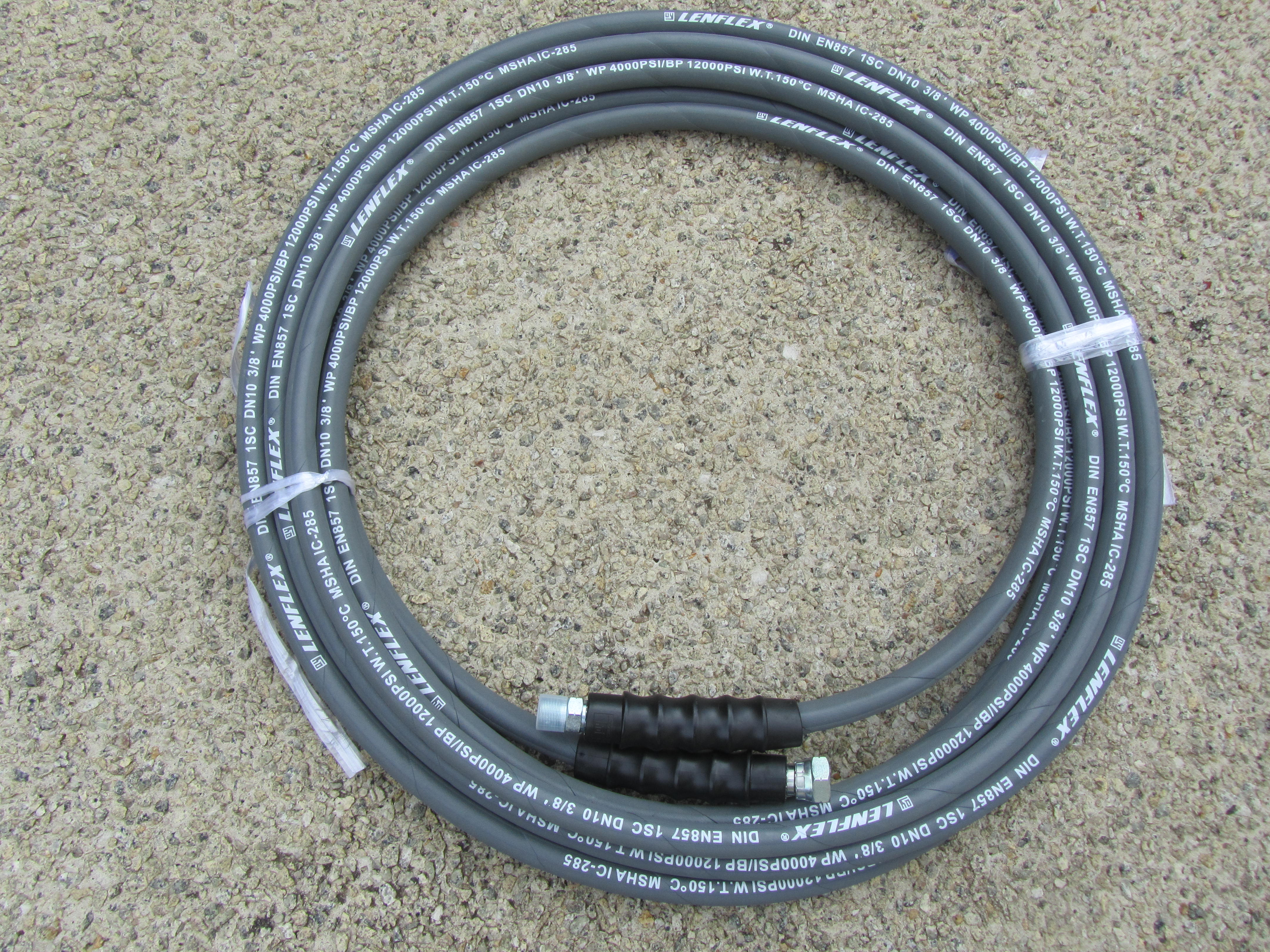 10 Metre 3|8 Inch 4000psi Grey 1 Wire Low Marking M | F