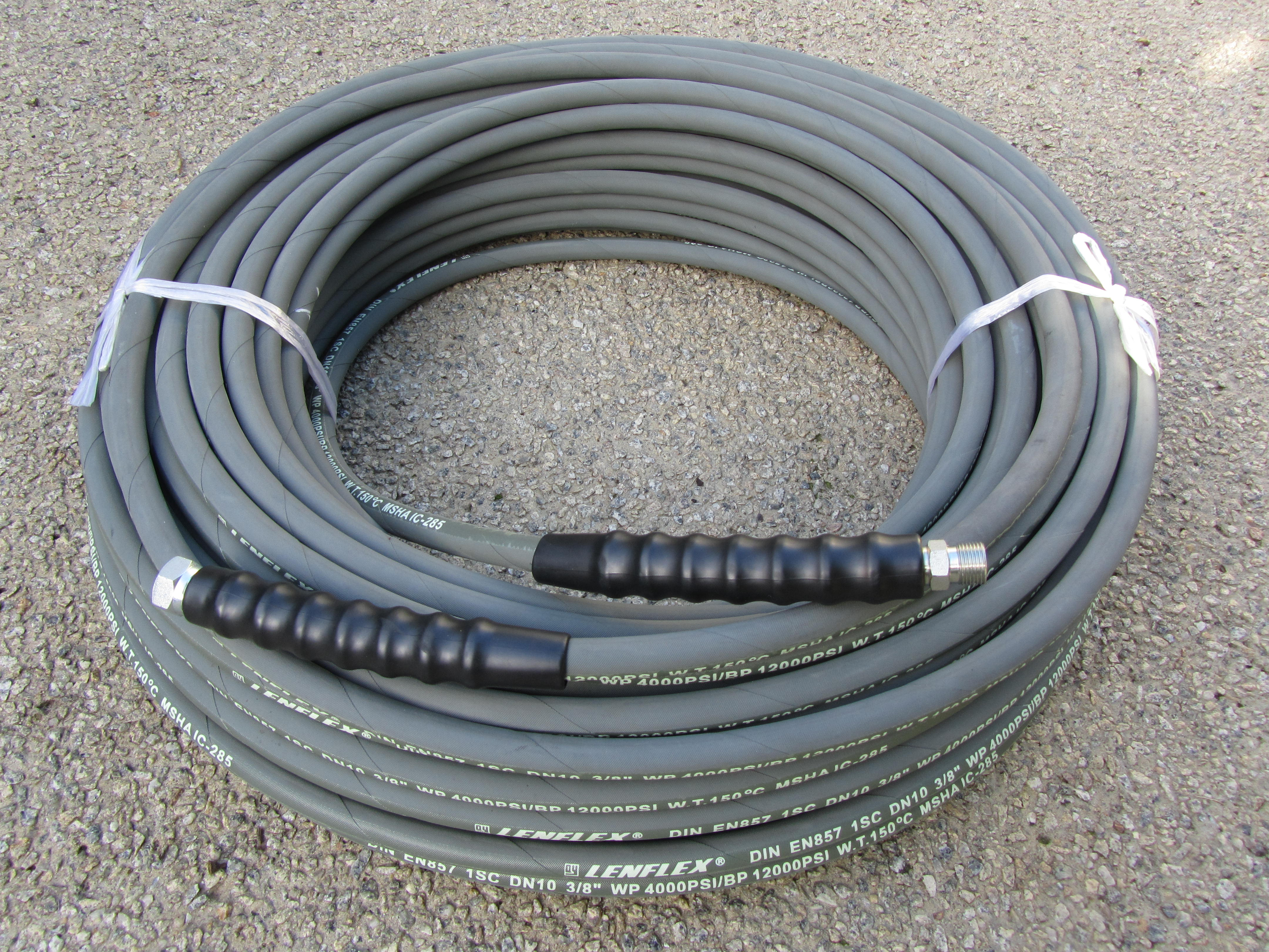 60 Metre 3|8 Inch 4000psi Grey 1 Wire Low Marking M & F