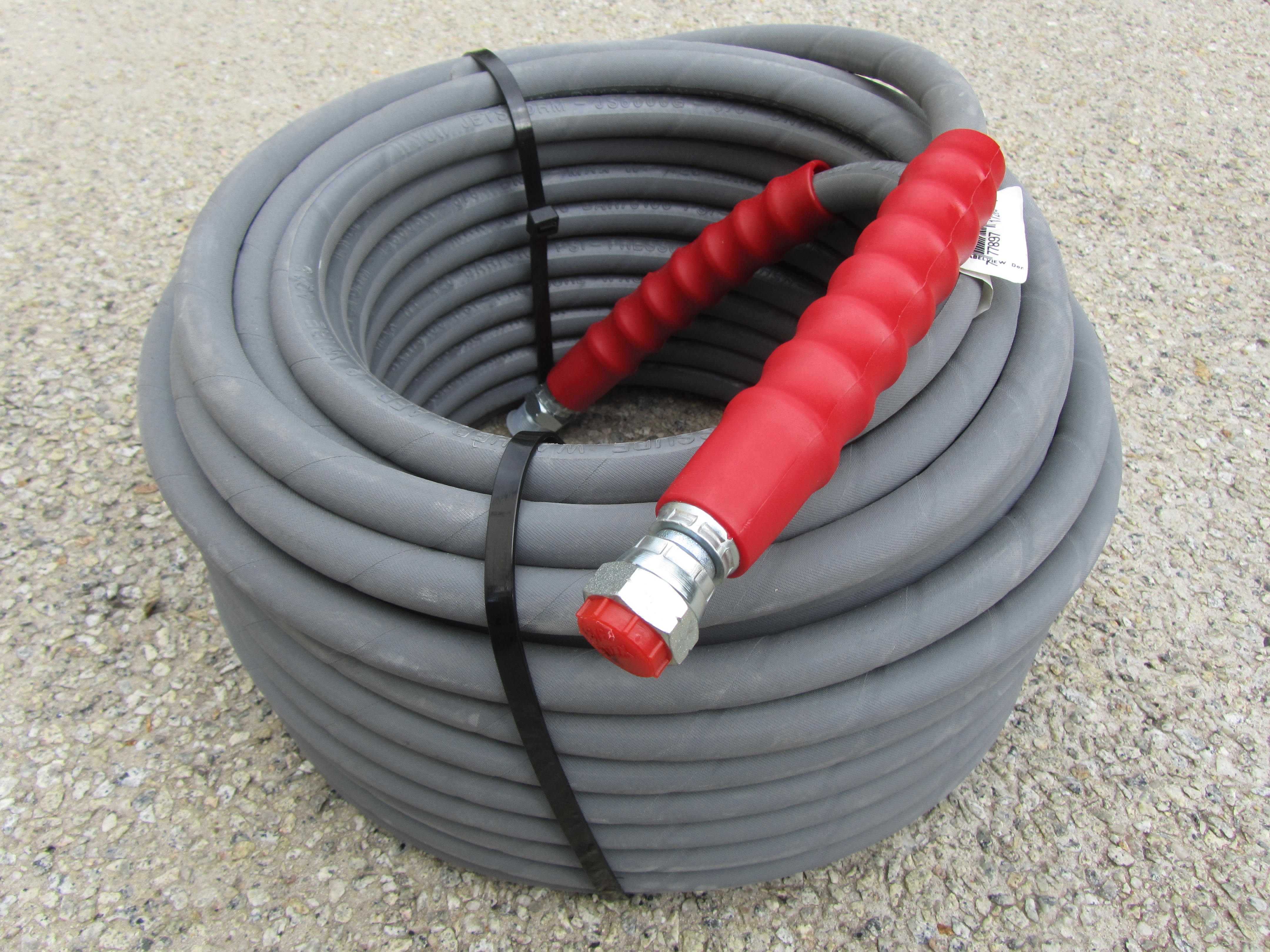 20 Metre Grey 3|8 Inch 6000psi 2 Wire Low Marking M and F Hose