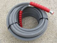 30 Metre Grey 3|8 Inch 6000psi 2 Wire Low Marking M and F Hose | Main Image