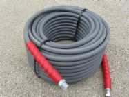 40 Metre Grey 3|8 Inch 6000psi 2 Wire Low Marking M & F Hose