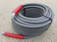 60 Metre Grey 3|8 Inch 6000psi 2 Wire Low Marking M & F Hose | Main Image