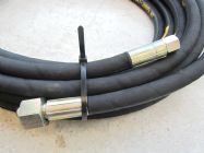 10 Metre Aestr Single Steel Braided High Pressure Hose with 14mm & 22mm Screw Connection Fittings | Image 3