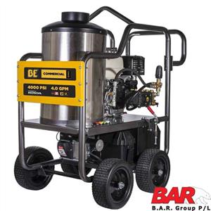 BE 15hp Power Ease | HOT & COLD Water High Pressure Washer | Cleaner Elec Start Engine | AR 4000psi Pump