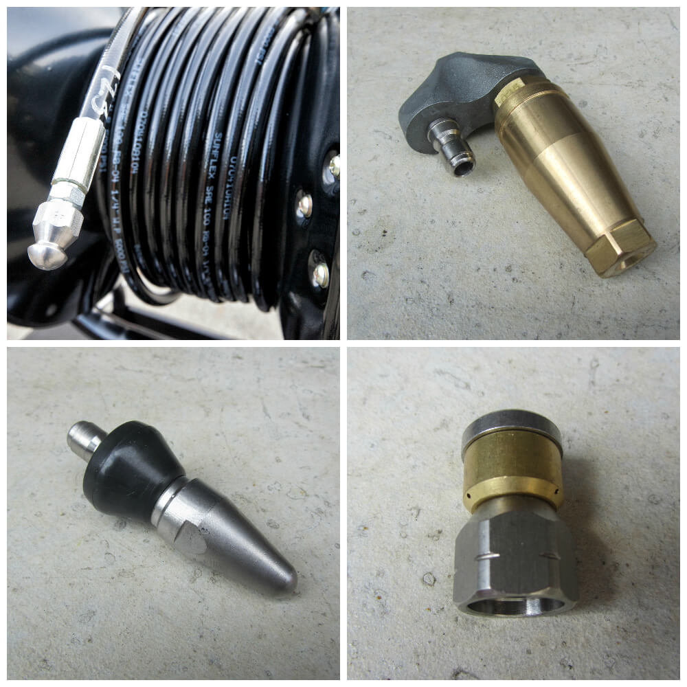 Pressure Washer Drain and Conduit Jetting Supplies