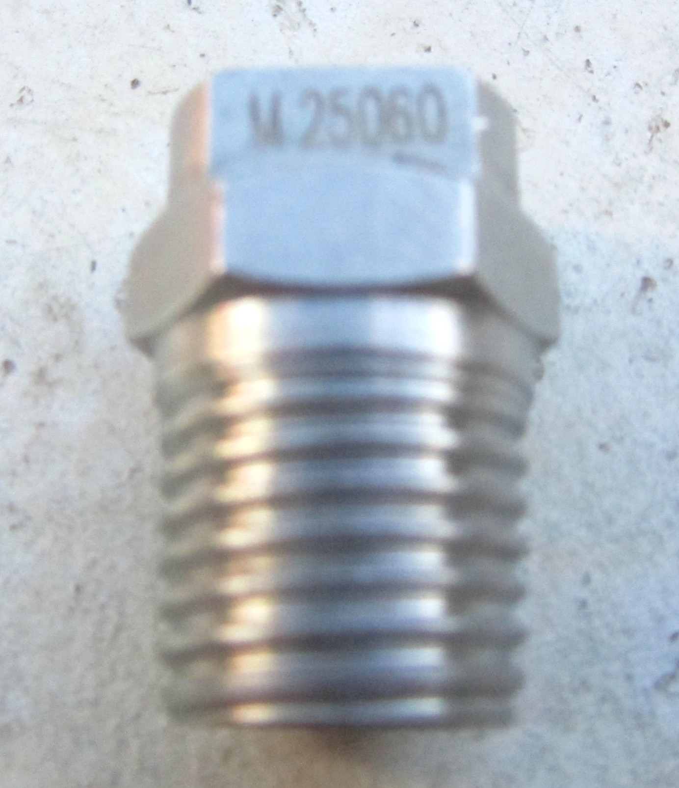Stainless Steel 060 Meg Nozzle 25 Degrees