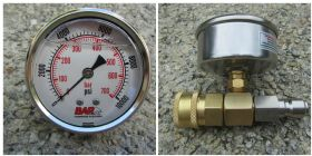 10000psi Pressure Gauge 3|8 Inch M|F Quick Connect