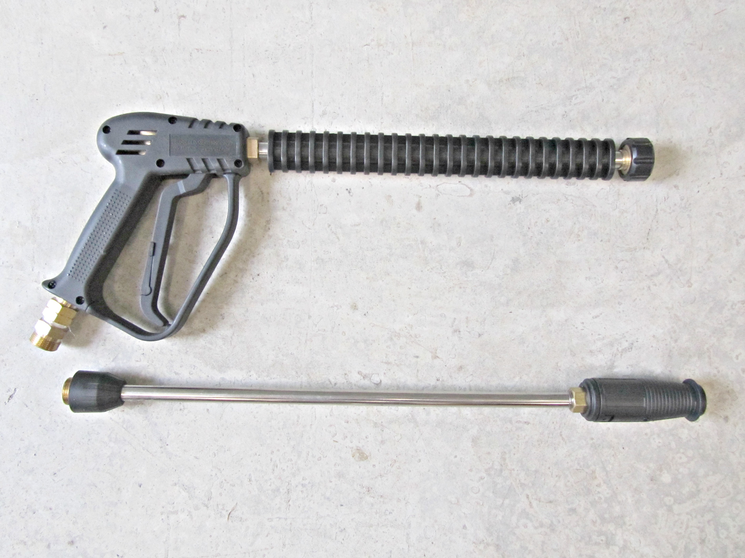 280 Bar Gun & Lance With Adjustable Nozzle - 22mm Screw Connection Hose Fitting
