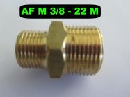 3|8 BSP M - 22mm M High Pressure Hose Fitting | Main Image