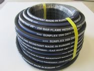 30M Sunflex Blue Stripe 3.8 Inch 2 Wire Flame Resistant 22mm Screw Fitting | Main Image