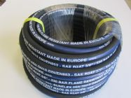 30M Sunflex Blue Stripe 3.8 Inch 2 Wire Flame Resistant M and F