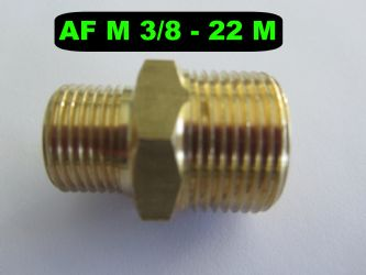 3|8 BSP M - 22mm M High Pressure Hose Fitting